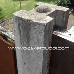 Flat Top Concrete Fence Post